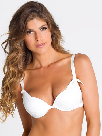 PARAH NOIR Trasparenza push up bra - The Lingerie Boutique