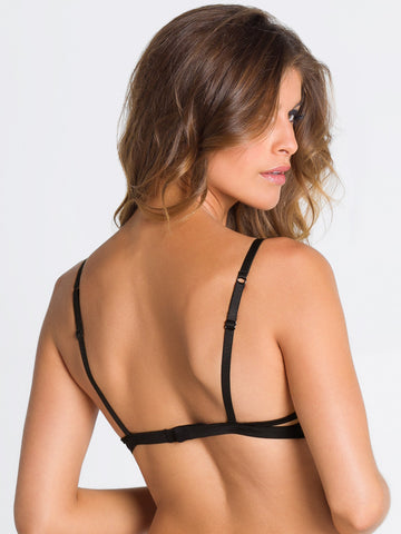 PARAH NOIR Noel Parisien push up bra - The Lingerie Boutique