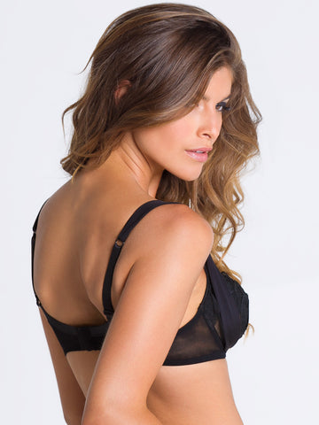 PARAH NOIR Noel Parisien balconette bra - The Lingerie Boutique