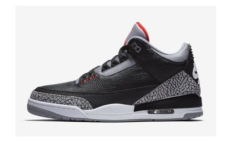 "Air Jordan 3 Retro OG ""Black Cement"" 2018 GS - zero's zeros world sneakers hypebeast streetwear street wear store stores shop los angeles melrose fairfax hollywood santa monica LA l.a. legit authentic cool kicks undefeated round two flight club solestage supreme where to buy sell trade consign yeezy yezzy yeezys vlone virgil abloh bape assc off white hype sneaker shoes streetwear sneakerhead consignment trade resale best dopest shopping"