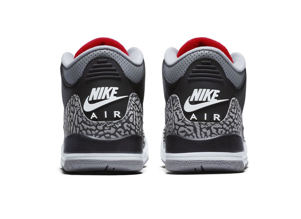"Air Jordan 3 Retro OG ""Black Cement"" 2018 GS - zero's world sneakers store los angeles melrose round two flight club supreme"