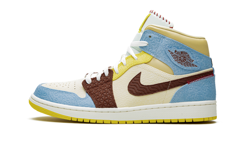 "Air Jordan 1 Mid SE Fearless ""Maison Chateau Rouge"""