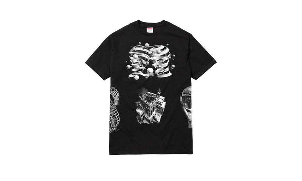 M.C Escher Collage Tee - zero's world sneakers store los angeles melrose round two flight club supreme