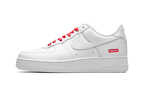 "Supreme x Nike Air Force 1 Low ""White"" - zero's zeros world sneakers hypebeast streetwear street wear store stores shop los angeles melrose fairfax hollywood santa monica LA l.a. legit authentic cool kicks undefeated round two flight club solestage supreme where to buy sell trade consign yeezy yezzy yeezys vlone virgil abloh bape assc off white hype sneaker shoes streetwear sneakerhead consignment trade resale best dopest shopping"