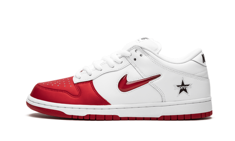 "Nike x Supreme SB Dunk Low ""Jewel Swoosh Red"""