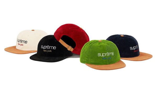 Supreme Classic Logo Corduroy 6-Panel - zero's zeros world sneakers hype streetwear street wear store stores shop los angeles melrose fairfax hollywood santa monica LA l.a. legit authentic cool kicks undefeated round two flight club solestage supreme where to buy sell trade consign yeezy yezzy yeezys vlone virgil abloh bape assc off white hype sneaker shoes streetwear sneakerhead consignment trade resale best dopest shopping