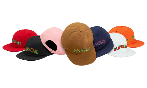 Supreme Stepped Arc 6 Panel Hat
