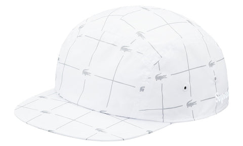 Supreme x Lacoste Reflective Grid Nylon Camp Cap