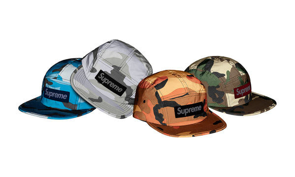 Supreme Reflective Camo Camp Cap