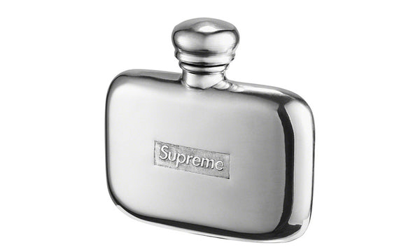 Supreme Pewter Mini Flask - zero's zeros world sneakers hypebeast streetwear street wear store stores shop los angeles melrose fairfax hollywood santa monica LA l.a. legit authentic cool kicks undefeated round two flight club solestage supreme where to buy sell trade consign yeezy yezzy yeezys vlone virgil abloh bape assc off white hype sneaker shoes streetwear sneakerhead consignment trade resale best dopest shopping
