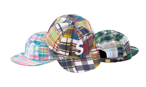 Supreme Patch Work Madras S Logo 6 Panel