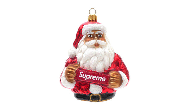 Supreme Santa Ornament - zero's zeros world sneakers hype streetwear street wear store stores shop los angeles melrose fairfax hollywood santa monica LA l.a. legit authentic cool kicks undefeated round two flight club solestage supreme where to buy sell trade consign yeezy yezzy yeezys vlone virgil abloh bape assc off white hype sneaker shoes streetwear sneakerhead consignment trade resale best dopest shopping