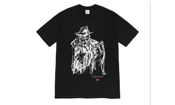Supreme x Yohji Yamamoto Scribble Portrait Tee - zero's zeros world sneakers hypebeast streetwear street wear store stores shop los angeles melrose fairfax hollywood santa monica LA l.a. legit authentic cool kicks undefeated round two flight club solestage supreme where to buy sell trade consign yeezy yezzy yeezys vlone virgil abloh bape assc off white hype sneaker shoes streetwear sneakerhead consignment trade resale best dopest shopping