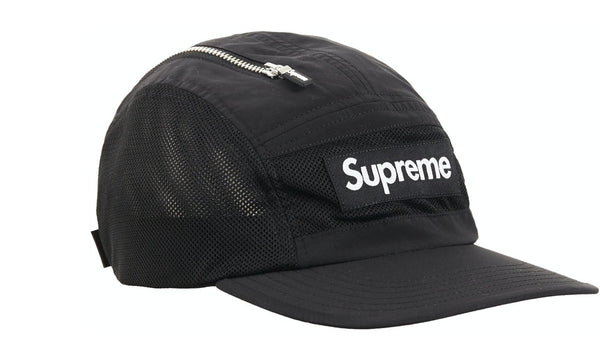 Supreme Zip Mesh Camp Cap - zero's zeros world sneakers hypebeast streetwear street wear store stores shop los angeles melrose fairfax hollywood santa monica LA l.a. legit authentic cool kicks undefeated round two flight club solestage supreme where to buy sell trade consign yeezy yezzy yeezys vlone virgil abloh bape assc off white hype sneaker shoes streetwear sneakerhead consignment trade resale best dopest shopping