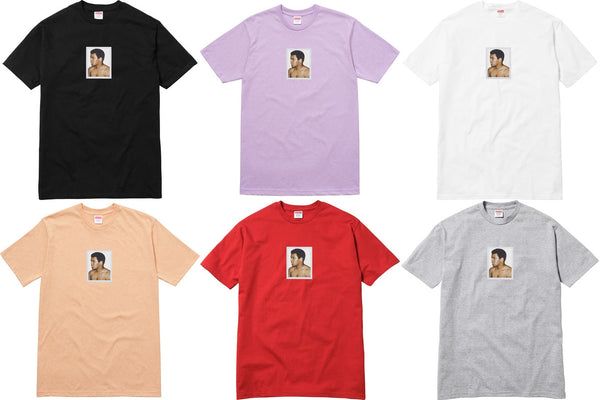 Supreme Ali / Warhol Tee - zero's zeros world sneakers hype streetwear street wear store stores shop los angeles melrose fairfax hollywood santa monica LA l.a. legit authentic cool kicks undefeated round two flight club solestage supreme where to buy sell trade consign yeezy yezzy yeezys vlone virgil abloh bape assc off white hype sneaker shoes streetwear sneakerhead consignment trade resale best dopest shopping