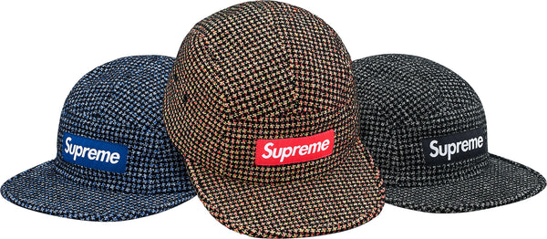 Supreme Boucle Houndstooth Camp Cap
