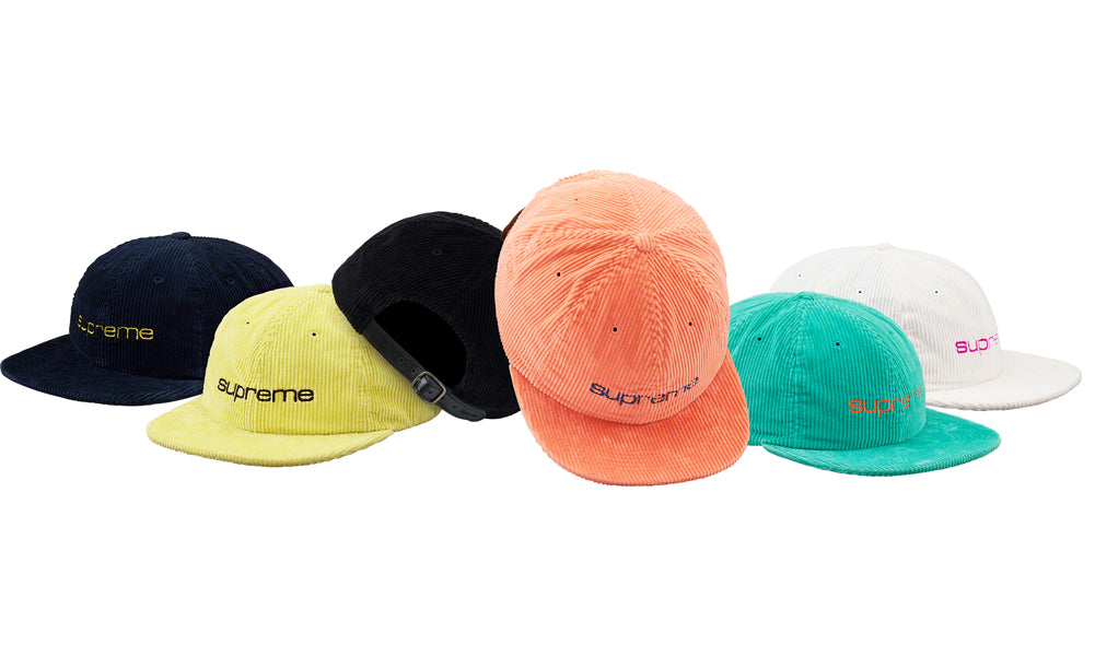 cc7ae7096a6 Buy Supreme Corduroy Compact Logo 6-Panel Hat at Zero s for only ...