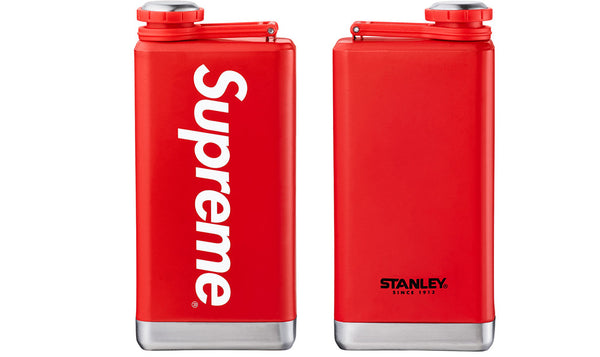 Supreme x Stanley Flask - zero's zeros world sneakers hypebeast streetwear street wear store stores shop los angeles melrose fairfax hollywood santa monica LA l.a. legit authentic cool kicks undefeated round two flight club solestage supreme where to buy sell trade consign yeezy yezzy yeezys vlone virgil abloh bape assc off white hype sneaker shoes streetwear sneakerhead consignment trade resale best dopest shopping