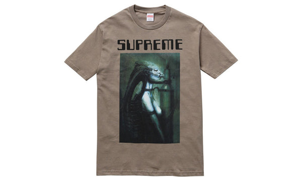 Supreme x H.R. Giger Alien Tee - zero's zeros world sneakers hypebeast streetwear street wear store stores shop los angeles melrose fairfax hollywood santa monica LA l.a. legit authentic cool kicks undefeated round two flight club solestage supreme where to buy sell trade consign yeezy yezzy yeezys vlone virgil abloh bape assc off white hype sneaker shoes streetwear sneakerhead consignment trade resale best dopest shopping