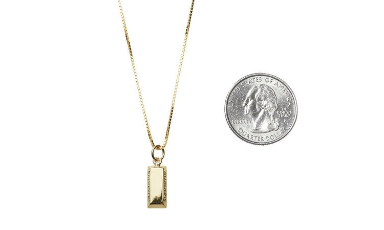 Buy supreme 14k gold bar pendant chain at zeros for only 99999 supreme gold bar pendant chain zeros world sneakers store los angeles melrose round two aloadofball Image collections