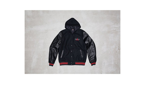Supreme/Jordan Hooded Varsity Jacket
