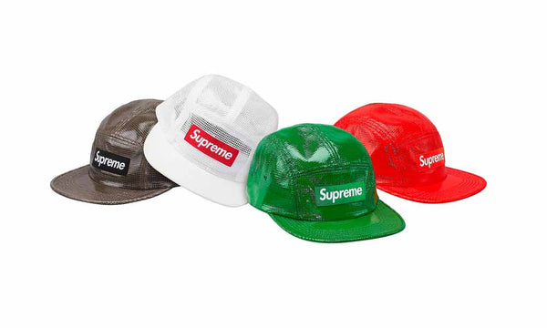 Supreme Laminated Box Weave Camp Cap - zero's world sneakers store los angeles melrose round two flight club supreme