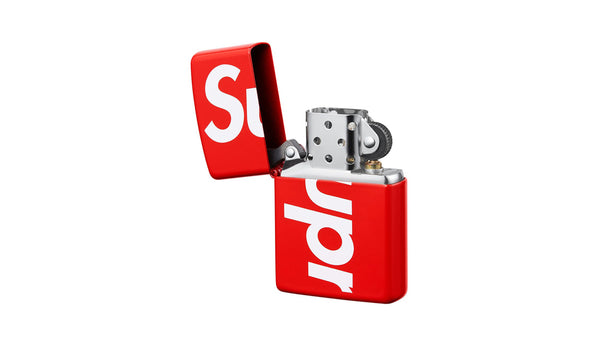 Supreme Logo Zippo 2018 - zero's zeros world sneakers hypebeast streetwear street wear store stores shop los angeles melrose fairfax hollywood santa monica LA l.a. legit authentic cool kicks undefeated round two flight club solestage supreme where to buy sell trade consign yeezy yezzy yeezys vlone virgil abloh bape assc chrome hearts off white hype sneaker shoes streetwear sneakerhead consignment trade resale best dopest shopping