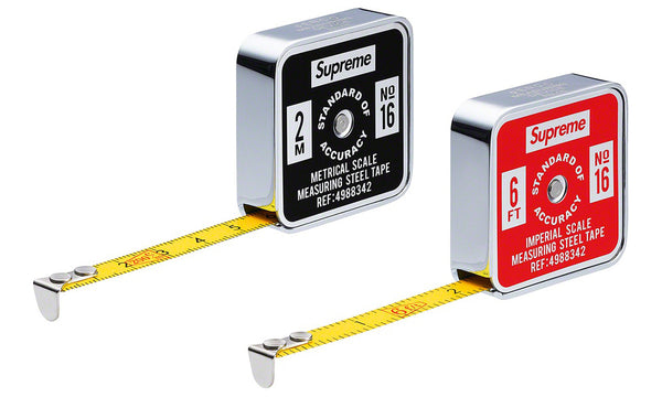 Supreme x Penco Tape Measure - zero's zeros world sneakers hype streetwear street wear store stores shop los angeles melrose fairfax hollywood santa monica LA l.a. legit authentic cool kicks undefeated round two flight club solestage supreme where to buy sell trade consign yeezy yezzy yeezys vlone virgil abloh bape assc off white hype sneaker shoes streetwear sneakerhead consignment trade resale best dopest shopping