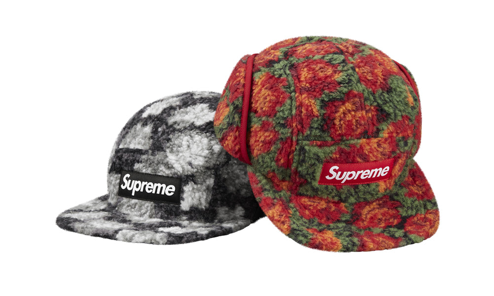 765d318140a Buy Supreme Roses Sherpa Fleece Earflap Camp Cap at Zero s for only ...