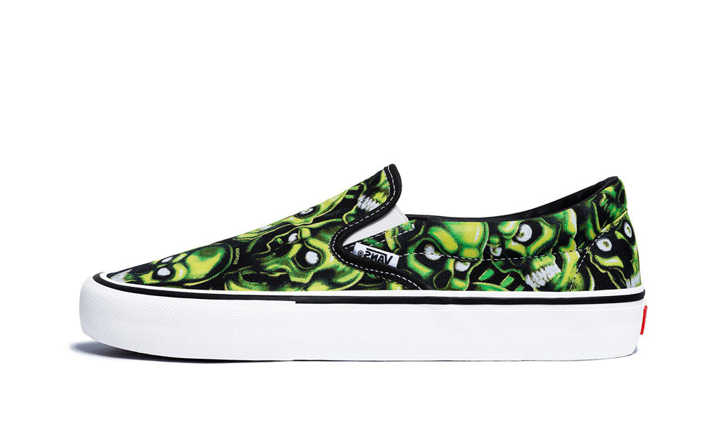 071d252f71e8 Buy Supreme x Vans Skull Pile Vans Slip On Pro at Zero s for only ...