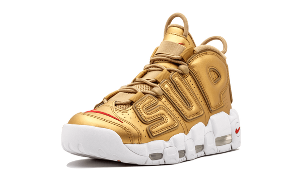"Supreme x Nike Air More Uptempo ""Gold"" - zero's world sneakers store los angeles melrose round two flight club supreme"