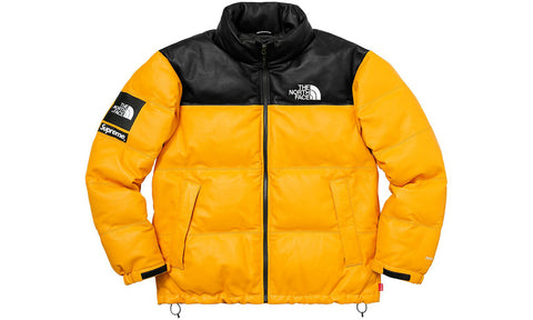 Supreme x The North Face Leather Nuptse Jacket - Vintage 10/10