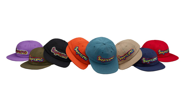 Supreme x Gonz Logo 6 panel Camp Cap