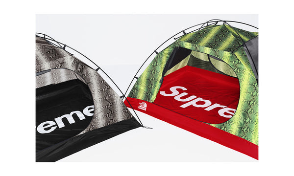 Supreme x The North Face Snakeskin Taped Seam Stormbreak 3 Tent - zero's zeros world sneakers hypebeast streetwear street wear store stores shop los angeles melrose fairfax hollywood santa monica LA l.a. legit authentic cool kicks undefeated round two flight club solestage supreme where to buy sell trade consign yeezy yezzy yeezys vlone virgil abloh bape assc chrome hearts off white hype sneaker shoes streetwear sneakerhead consignment trade resale best dopest shopping