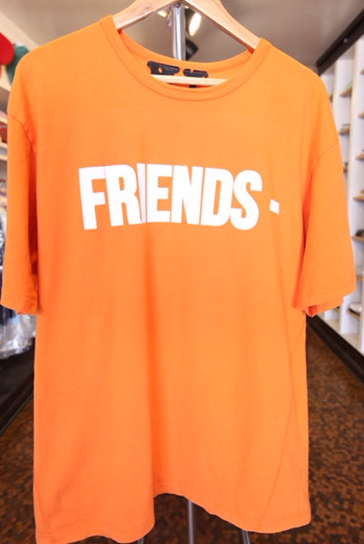 "VLONE ""Friends"" Tee - zero's zeros world sneakers hype streetwear street wear store stores shop los angeles melrose fairfax hollywood santa monica LA l.a. legit authentic cool kicks undefeated round two flight club solestage supreme where to buy sell trade consign yeezy yezzy yeezys vlone virgil abloh bape assc off white hype sneaker shoes streetwear sneakerhead consignment trade resale best dopest shopping"