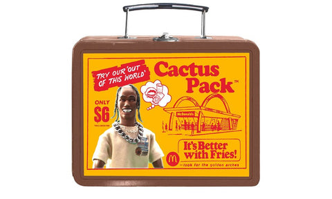 Travis Scott x Mcdonalds Cactus Jack Vintage Metal Lunchbox