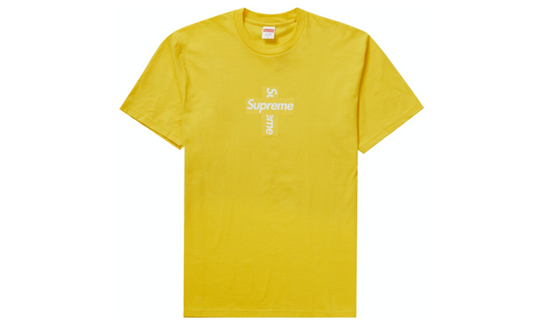 Supreme Cross Box Logo Tee F/W 20 Yellow - zero's zeros world sneakers hypebeast streetwear street wear store stores shop los angeles melrose fairfax hollywood santa monica LA l.a. legit authentic cool kicks undefeated round two flight club solestage supreme where to buy sell trade consign yeezy yezzy yeezys vlone virgil abloh bape assc off white hype sneaker shoes streetwear sneakerhead consignment trade resale best dopest shopping