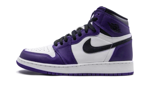 "Air Jordan 1 Retro High ""Court Purple White"" GS - zero's zeros world sneakers hypebeast streetwear street wear store stores shop los angeles melrose fairfax hollywood santa monica LA l.a. legit authentic cool kicks undefeated round two flight club solestage supreme where to buy sell trade consign yeezy yezzy yeezys vlone virgil abloh bape assc off white hype sneaker shoes streetwear sneakerhead consignment trade resale best dopest shopping"