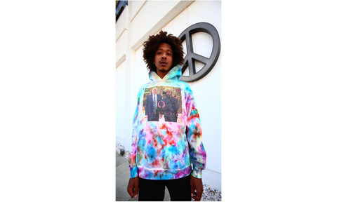 No Future Never Forget Tie Dye Hoodie