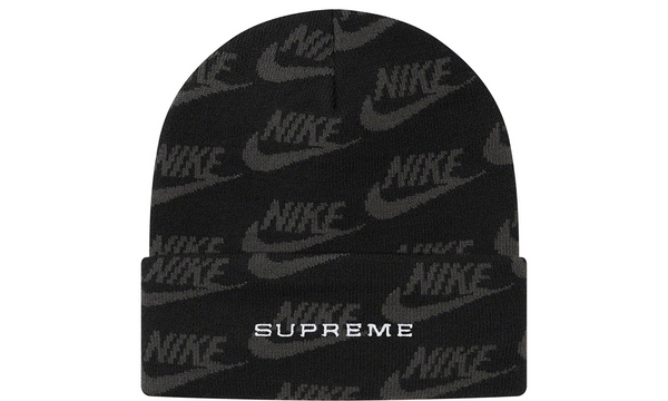 Supreme x Nike Jacquard Logos Beanie - zero's zeros world sneakers hypebeast streetwear street wear store stores shop los angeles melrose fairfax hollywood santa monica LA l.a. legit authentic cool kicks undefeated round two flight club solestage supreme where to buy sell trade consign yeezy yezzy yeezys vlone virgil abloh bape assc chrome hearts off white hype sneaker shoes streetwear sneakerhead consignment trade resale best dopest shopping