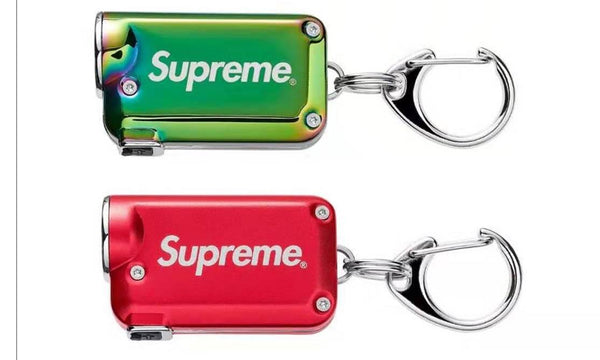 Supreme x NITECORE Tini Keychain Light - zero's zeros world sneakers hype streetwear street wear store stores shop los angeles melrose fairfax hollywood santa monica LA l.a. legit authentic cool kicks undefeated round two flight club solestage supreme where to buy sell trade consign yeezy yezzy yeezys vlone virgil abloh bape assc off white hype sneaker shoes streetwear sneakerhead consignment trade resale best dopest shopping