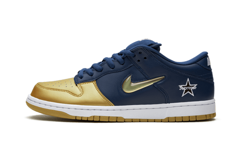 "Nike x Supreme SB Dunk Low ""Jewel Swoosh Navy"""