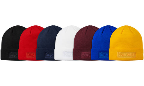 Supreme x New Era Box Logo Beanie F/W 14