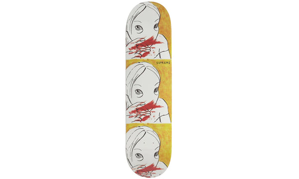 Supreme Nose Bleed Skateboard Deck - zero's zeros world sneakers hype streetwear street wear store stores shop los angeles melrose fairfax hollywood santa monica LA l.a. legit authentic cool kicks undefeated round two flight club solestage supreme where to buy sell trade consign yeezy yezzy yeezys vlone virgil abloh bape assc off white hype sneaker shoes streetwear sneakerhead consignment trade resale best dopest shopping
