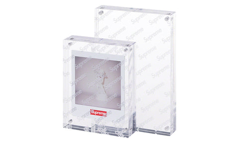 Supreme Acrylic Photo Frame - Set Of 2 - zero's zeros world sneakers hypebeast streetwear street wear store stores shop los angeles melrose fairfax hollywood santa monica LA l.a. legit authentic cool kicks undefeated round two flight club solestage supreme where to buy sell trade consign yeezy yezzy yeezys vlone virgil abloh bape assc off white hype sneaker shoes streetwear sneakerhead consignment trade resale best dopest shopping