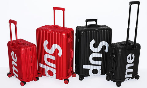 Supreme x RIMOWA Topas Multiwheel 45L Suitcase - zero's zeros world sneakers hypebeast streetwear street wear store stores shop los angeles melrose fairfax hollywood santa monica LA l.a. legit authentic cool kicks undefeated round two flight club solestage supreme where to buy sell trade consign yeezy yezzy yeezys vlone virgil abloh bape assc off white hype sneaker shoes streetwear sneakerhead consignment trade resale best dopest shopping