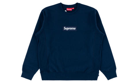 Supreme Box Logo F/W 18 Navy - zero's zeros world sneakers hypebeast streetwear street wear store stores shop los angeles melrose fairfax hollywood santa monica LA l.a. legit authentic cool kicks undefeated round two flight club solestage supreme where to buy sell trade consign yeezy yezzy yeezys vlone virgil abloh bape assc off white hype sneaker shoes streetwear sneakerhead consignment trade resale best dopest shopping