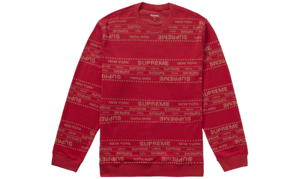 Supreme Metallic Jacquard Crewneck Sweatshirt - zero's zeros world sneakers hypebeast streetwear street wear store stores shop los angeles melrose fairfax hollywood santa monica LA l.a. legit authentic cool kicks undefeated round two flight club solestage supreme where to buy sell trade consign yeezy yezzy yeezys vlone virgil abloh bape assc off white hype sneaker shoes streetwear sneakerhead consignment trade resale best dopest shopping