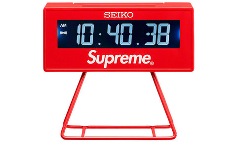 Supreme x Seiko Marathon Clock - zero's zeros world sneakers hypebeast streetwear street wear store stores shop los angeles melrose fairfax hollywood santa monica LA l.a. legit authentic cool kicks undefeated round two flight club solestage supreme where to buy sell trade consign yeezy yezzy yeezys vlone virgil abloh bape assc chrome hearts off white hype sneaker shoes streetwear sneakerhead consignment trade resale best dopest shopping