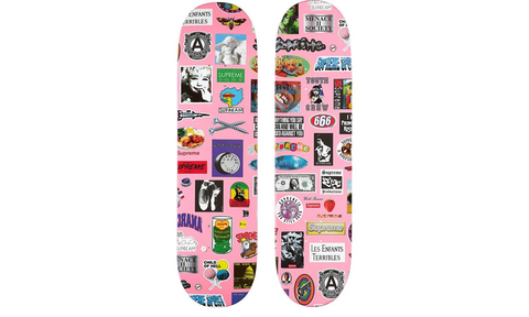 Supreme Stickers Skateboard